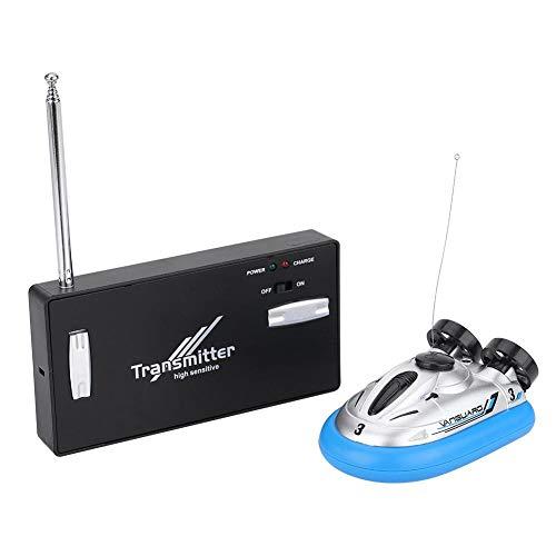 Dilwe Hovercraft Spielzeug, Mini Fernbedienung Boot RC Elektrische Schnellboot Hovercraft Submarine Wasser Spielzeug für Kinder ( Blau)