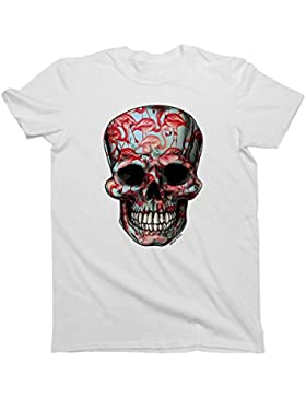Hombres/Damas Camiseta T-Shirt Unisex FLAMINGO Skull Art by Buzz Shirts Fashion