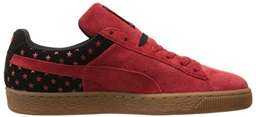 Puma Suede Stars Mens Grey Suede Lace Up Sneakers Shoes High Risk Red/Black
