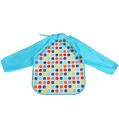 san-bodhir-kids-waterproof-sleeved-feeding-bibs-long-sleeve-art-apron-smock-bib