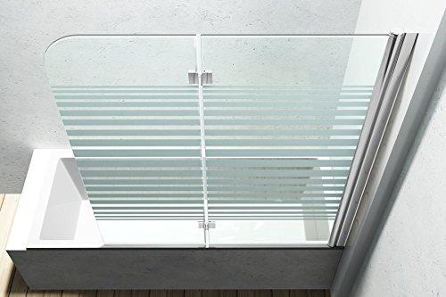 Duschabtrennung / Duschwand für Badewane aus Glas Cortona1408S-rechts, Wandanschlag rechts, inkl. Nanobeschichtung - 5