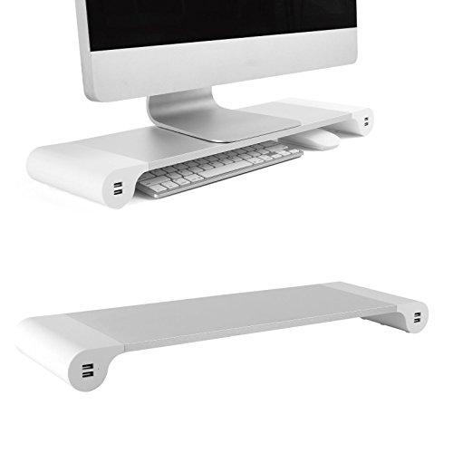 Tv-riser 4 (Dihl Mülleimer mit Computer Monitor Riser TV Ständer Entertainment verstauen 4integrierte USB-Ports)
