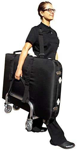 Tavola Trolley Per Massaggio per Professionisti– Struttura in Alluminio di Alta Qualità - Leggero, Durevole, Solido, Altamente Mobile - 3 anni di garanzia