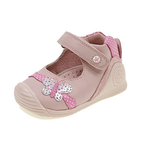 1b62ba4824747 Biomecanics Danseurs Chaussures avec Velcro Premiers Pas Biogateo 182134A  Rose Taille  21