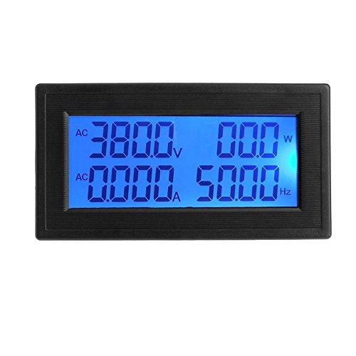 tuankayuk 6in1AC 60-500V/20A blau Hintergrundbeleuchtung LCD Digital Panel Meter Voltmeter Amperemeter - Ac Voltmeter