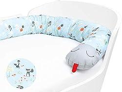 Priebes Klaus die große Bettschlange | Stillkissen Länge 200 cm | Bettnestchen fürs Babybett | Lagerungskissen | Seitenschläferkissen | Bezug 100% Baumwolle, Design:füchse