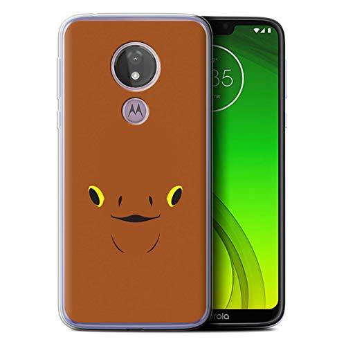 eSwish Gel TPU Hülle/Case für Motorola Moto G7 Power/Ackbar Kunst Inspiriert Muster/Nette Sci-Fi Gesichter Kollektion