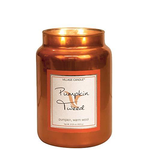 Village Candle - Kerze, Duftkerze - Pumpkin Tweed - Metallic Collection - 626 g -