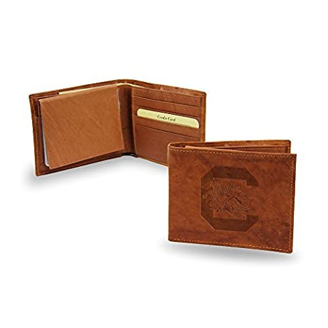 NCAA South Carolina Gamecocks Embossed Genuine Leather Billfold Wallet by Rico