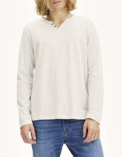 Celio Herren T-Shirt Abelong Ecru (Ecru Chine)