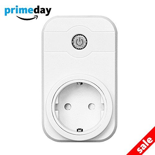 Preisvergleich Produktbild Intelligente WiFi Steckdose funktioniert mit Amazon Alexa (Echo und Echo Dot) und Google home Smartphone App Steuerung für IOS und Android für Haus und Büro Fernbedienungsschalter
