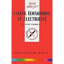 Calcul économique et électricité