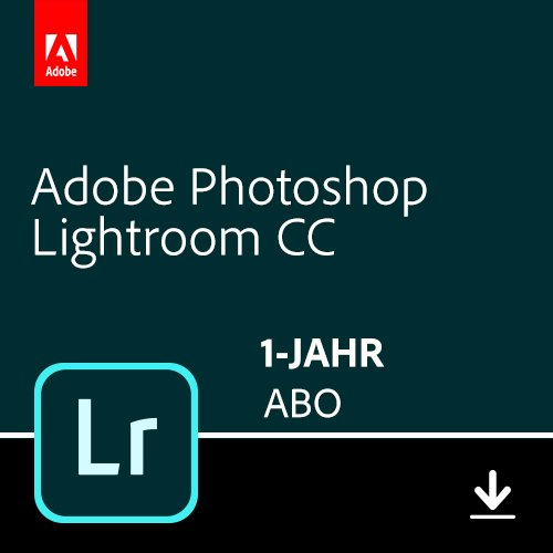 Adobe Photoshop Lightroom CC-Abo | 1 Jahreslizenz | PC/Mac Online Code & Download