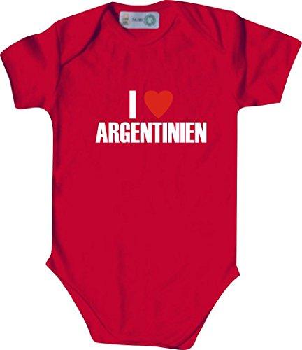 Unbekannt Cooler WM Länder Baby Body/I LOVE ARGENTINIEN/Farbe: Rot/Größe: 86-92 (18-23 Monate)