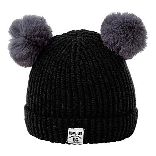 HAOLIEQUAN Bébé Toddler Filles Garçons Infant Chaud Hiver Bonnet Bonnet Crochet Bonnet De Ski Ball Bonnet Femme Hiver Nouveau Chapeau d'hiver pour Femmes