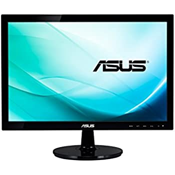 "Asus VS197DE Monitor da 18.5""/47.0 cm, Widescreen, 16:9, WLED/TN, 1366x768, 200 cd/mq, Nero/Antracite"