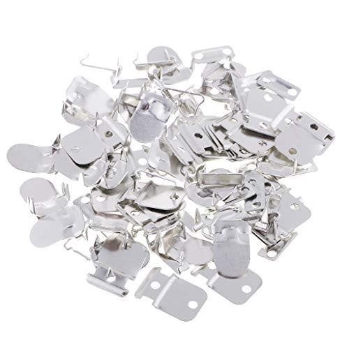 perfk 20 Sets Metallhaken Hosenhaken Ösen Augenverschlüsse zum annähen Hose Kleidung Näharbeit Hakenknöpfe DIY - Silber