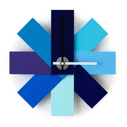 Normann Copenhagen Wanduhr, Stahl, Blau, 28.5 x 28.5 x 28.5 cm