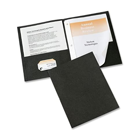 Paper Two-Pocket Report Cover, Tang Clip, Letter, 1/2