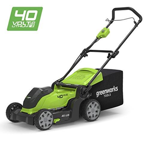 Greenworks Tondeuse à gazon sans fil sur batterie 41cm 40V Lithium-ion...