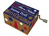 'FRIDOLIN 148.137,9 cm Merry Christmas/Golden Merry Christmas'Music Box mit Gold Impressum