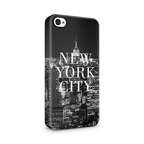 Night At The New York City Manhattan Long Island Custodia Posteriore Sottile In Plastica Rigida Cover Per iPhone 7 Plus & iPhone 8 Plus Slim Fit Hard Case Cover NewYork Night