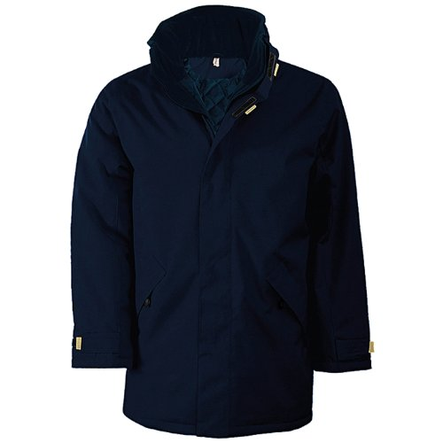 Kariban Herren Jacke Padded Parka Jacket Hellblau/Schwarz