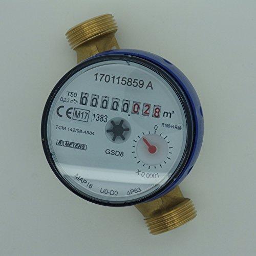 Preisvergleich Produktbild Wasserzähler QN 1,5 Kaltwasser, BL 110 mm 1/2 Zoll Durchfluss - Anschluss 3/4 Zoll  Beste Messgenauigkeit
