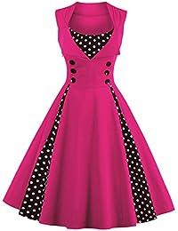 9e78ccbc1cb1 Amazon.it  vestiti anni 50 - Rosa   Vestiti   Donna  Abbigliamento
