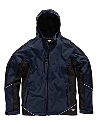 Dickies zweifarbige Softshell Jacke marineblau/schwarz NVBL, JW7010