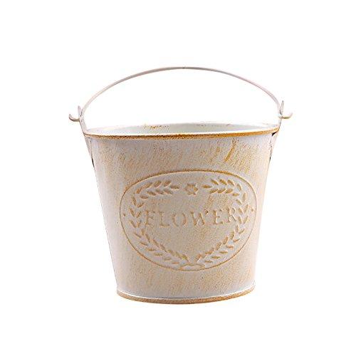 Upxiang Mini Pots de Fleurs Suspendu Multifonction Godet pour Semis Métal Iron Balcon Jardin Home Decor Pots de Plante Solide et Résistant (Jaune)