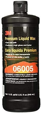 3M Premium Liquid Wax, US Quart 6005