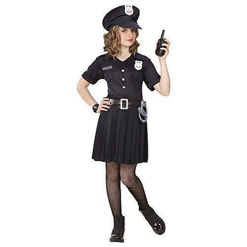 Mädchen Polizist Kostüm - Widmann 65557 Kinderkostüm Polizistin, 140 cm
