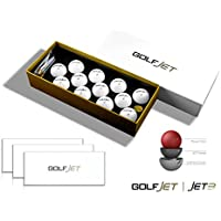 GOLFJET JET3 Three Dozen Premium Golf Balls. 3-Layer Power Core, 338 Hex Aero Pattern with Supersoft Urethane Cover. Improve Driver Distance, Maximise Short Game Spin, Ultimate Control.