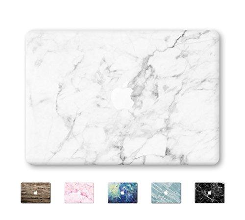 """DowBier MacBook Aufkleber Vinyl Haut Aufkleber Anti-Scratch Aufkleber für Apple MacBook (MacBook Air 13\""""/Inch(A1369,A1466), White Marble)"""
