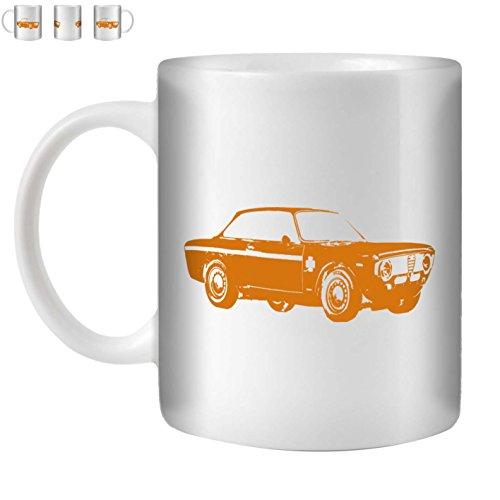 Stuff4® Tee/Kaffee Becher 350ml/Orange/Alfa GTA/Weißkeramik/ST10