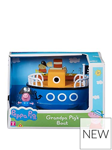 Peppa Pig Grandpa Pig's Boat Vehículo pequeño con Pirate George