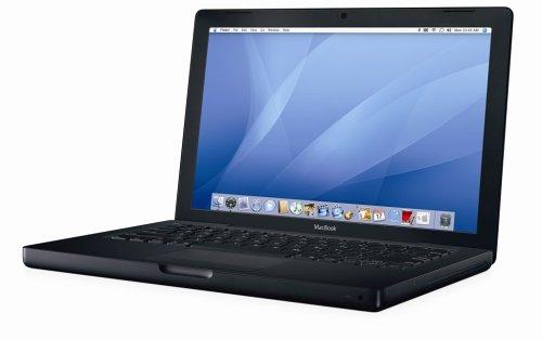Apple MacBook MB063 33,8 cm (13,3 Zoll) Notebook schwarz (Intel Core 2 Duo 2,16GHz, 1GB RAM, 160GB HDD, DVD+- DL RW)