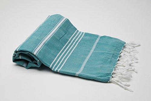 """Pestemal Hamamtuch Handtuch,Sultan Version Petrolgrün Petrol-Grün von \""""my Hamam\"""" Badetuch Saunatuch Handtuch Yogadecke, Turkish Hamam Towel"""