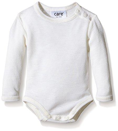 Care Unisex Baby Body, Wolle, Einfarbig, Gr. 80, Elfenbein (Offwhite 200)