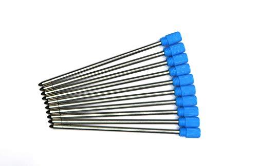 Kugelschreibermine 10x blau, Mine klein für z. B. PenAgain Mini-Kugelschreiber - Länge 67mm Strichstärke M 1mm - mini-pen refills ()