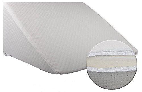 Bella Luna XXL Keilkissen 30x50x60 cm zum ergonomischen Sitzen und Liegen im Bett mit Microfaser Bezug – keilförmiges Schaumstoffkissen für Betten und