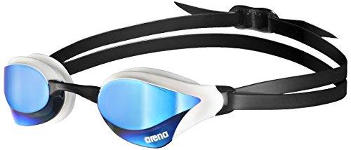arena Unisex Training Wettkampf Schwimmbrille Cobra Core Mirror (Verspiegelt, UV-Schutz, Anti-Fog Beschichtung), blau (Blue-White), One Size