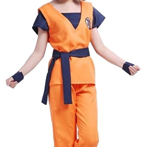FineBlue FB-Goku estilo peluca cosplay ropa de artes marciales con el tama?o M CS-A008 (jap?n