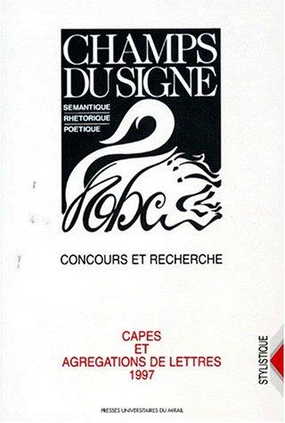 Capes, agrégation, lettres, 1997