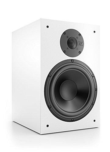 Nubert nuBox 383 Kompakt- /Regallautsprecher 2-Wege (22,0 cm Tief-/Mitteltöner, 2,5 cm Hochtöner, 150/200 Watt, 52-22000 Hz), Stück, Weiß/Weiß
