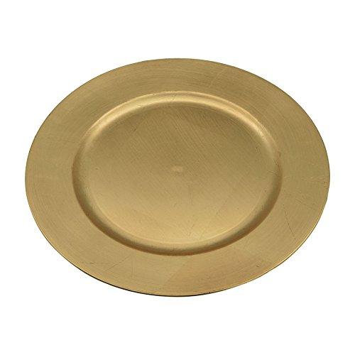 Argon Tableware Assiettes de présentation dorées à Mettre sous Vos Assiettes - Ensemble de 6 pièces