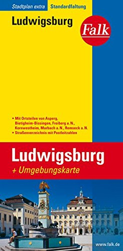 Falk Stadtplan Ludwigsburg, Extra Standardfaltung