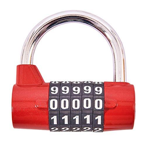 Am-Tech T1144 - Candado combinación 5 dígitos
