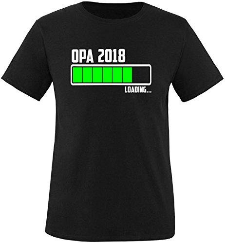 EZYshirt® Opa 2018 Herren Rundhals T-Shirt Schwarz/Weiss/Neongr